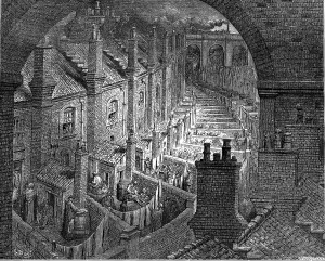 L0000877 London slums Credit: Wellcome Library, London. Wellcome Images images@wellcome.ac.uk http://wellcomeimages.org London slums Engraving By: Gustave DoreLondon: a pilgrimage. Dore, Gustave and Jerrold, Blanchard Published: 1872 Copyrighted work available under Creative Commons Attribution only licence CC BY 4.0 http://creativecommons.org/licenses/by/4.0/
